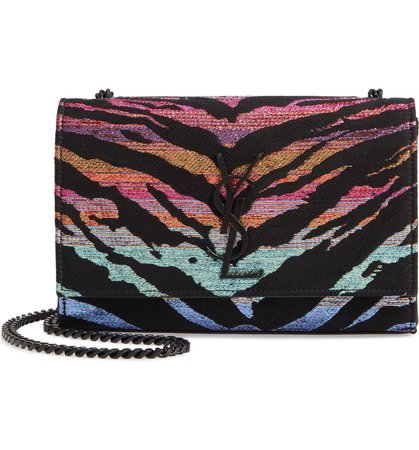 Saint Laurent Small Kate Tiger Metallic Shoulder Bag | Nordstrom