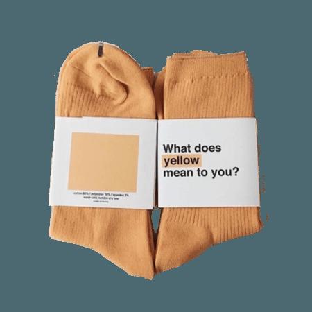 socks aesthetic moodboard yellow clothes freetoedit...