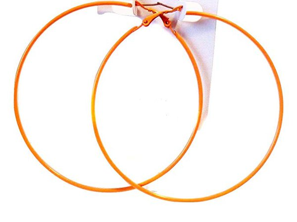 Amazon.com: Orange Hoop Earrings Thin Hoop Earrings Orange Hoops 3 Inch: Jewelry