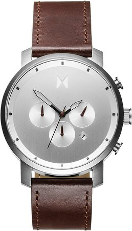 The Chrono Chronograph Leather Strap Watch, 45mm
