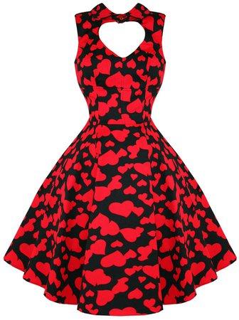 Black & Red Queen Of Hearts Dress
