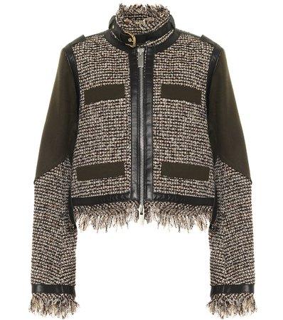 Sacai, Wool-blend tweed jacket
