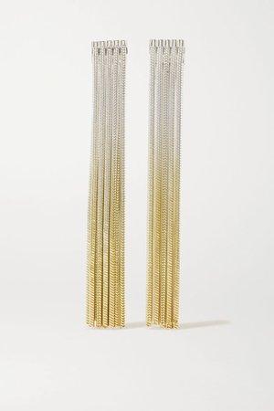 Gold Feeler gold vermeil and silver earrings | SARAH & SEBASTIAN | NET-A-PORTER