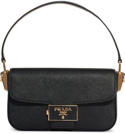 Prada Lux Saffiano Leather Baguette Bag | Nordstrom