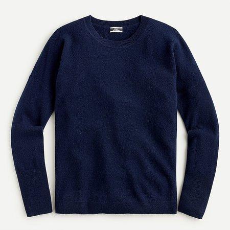 J.Crew: Cashmere Crewneck Boyfriend Sweater For Women