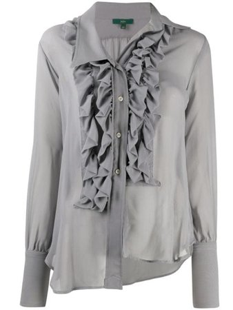 Shop Jejia asymmetrical ruffled blouse with Express Delivery - Farfetch