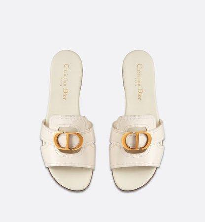 30 Montaigne Slide White Calfskin - Shoes - Women's Fashion | DIOR