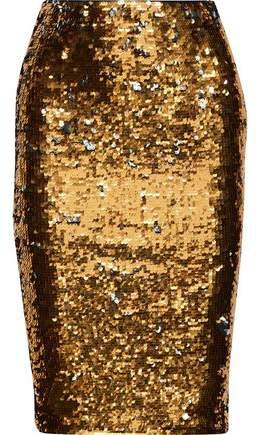 Rita Sequined Stretch-knit Pencil Skirt
