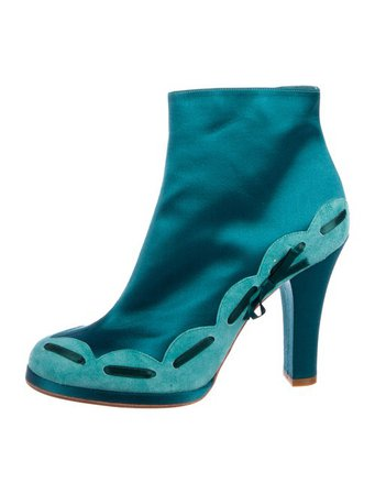 Marc Jacobs Satin Ankle Booties - Shoes - MAR64883   The RealReal