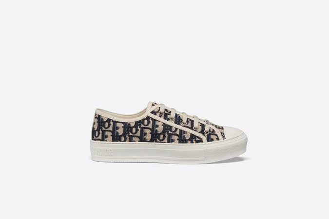 WALK'N'DIOR SNEAKER IN OBLIQUE EMBROIDERED CANVAS
