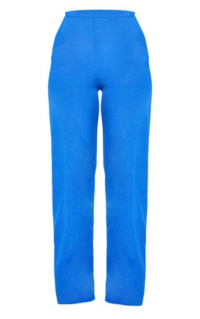 Blue Wide Leg Trousers | Co-Ords | PrettyLittleThing USA
