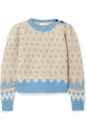 LoveShackFancy | Rosie Fair Isle alpaca-blend sweater | NET-A-PORTER.COM