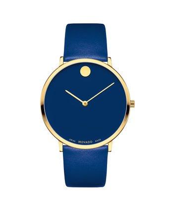 Movado blue watch
