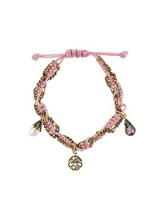 Alexander McQueen Rope Charm Bracelet - Farfetch