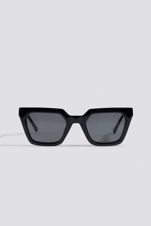 Sharp Edge Square Sunglasses Schwarz | na-kd.com