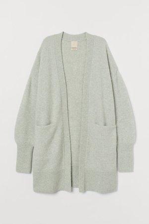 Wool-blend Cardigan - Light green - Ladies | H&M US