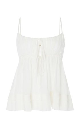 White Flared Tank Top