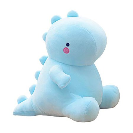 Amazon.com: Blue Cute Charming Cartoon Fashion Funny Pretty Dinosaur Stuffed Animals Shape Big Hugging Pillow Soft 3D Pom Plush Toy Doll Ultra Fabric Bed Rest Chair Bolster Nursery Decoration Gift for Kids: Toys & Games
