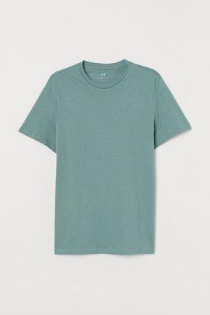 Regular Fit Crew-neck T-shirt - Mint green - Men | H&M US