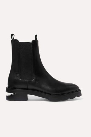 Andee Cutout Leather Chelsea Boots - Black