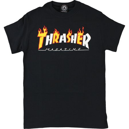 Thrasher Magazine Flame Mag Black Men's Short Sleeve T-Shirt - X-Large