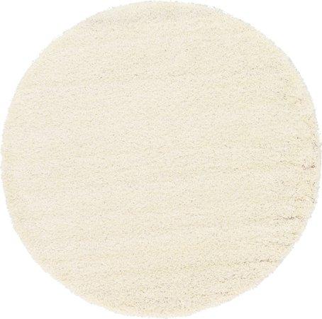 white circle rug