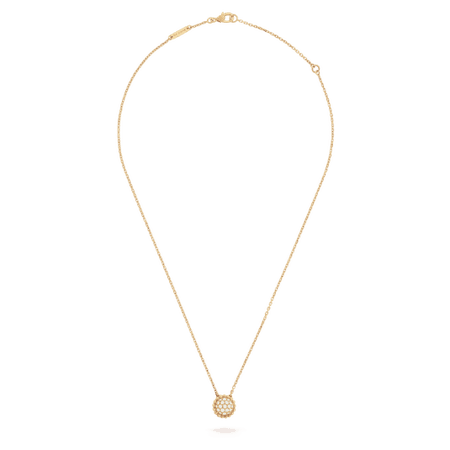 Perlée diamonds pendant necklace