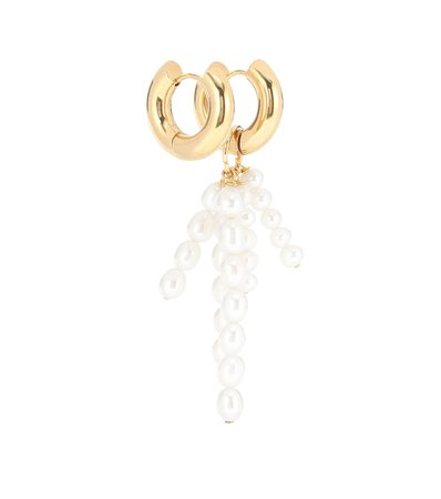 Exclusive To Mytheresa – Mismatched Gold-Plated Earrings - Timeless Pearly | Mytheresa