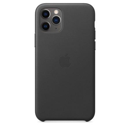 iPhone 11 Pro Leather Case - Black - Apple