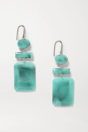 Silver Silver-tone and resin earrings | Isabel Marant | NET-A-PORTER