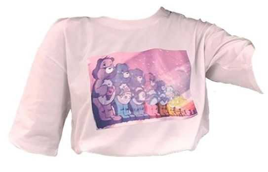 care bears pastel pink shirt