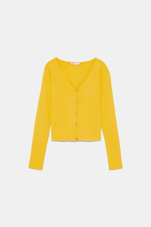 GOLD BUTTON SHIRT-Long Sleeve-T-SHIRTS-WOMAN | ZARA United States