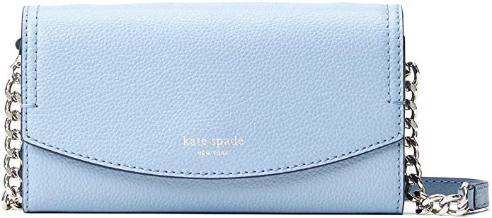 Amazon.com: Kate Spade NY Eva Leather Wallet on a Chain - Blue Dawn: Shoes