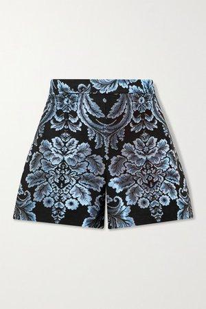 Alice Olivia - Hera Brocade Shorts - Black