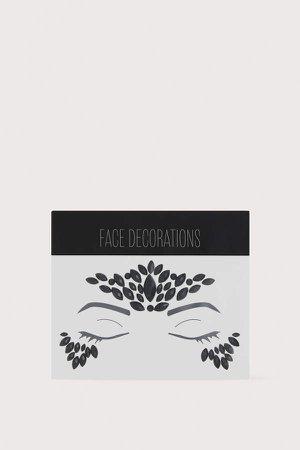 Face Decorations - Black