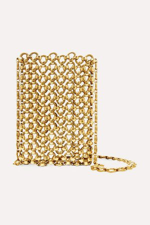 Gold-tone Brass Clutch