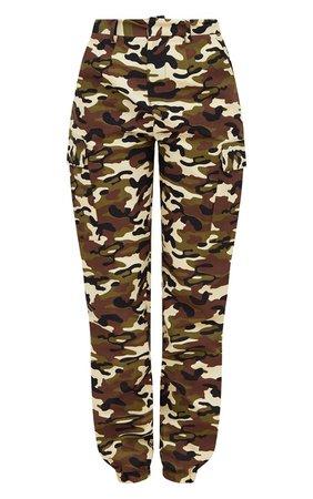 Grey Camo Print Cargo Pants   PrettyLittleThing USA
