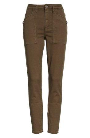 Joie Keena Zip Cuff Cotton Blend Pants | Nordstrom