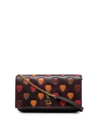 Saint Laurent heart-embellished Crossbody Bag - Farfetch