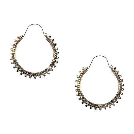 Bijoux Bar Filigree Hoop Earrings, Color: Gold - JCPenney