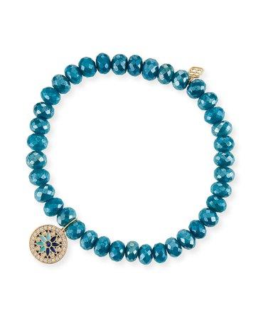 Sydney Evan Kaleidoscope Quartz Bead Bracelet