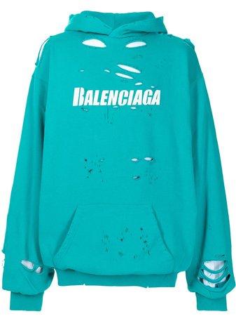 Balenciaga Hoodie Oversize à Logo - Farfetch