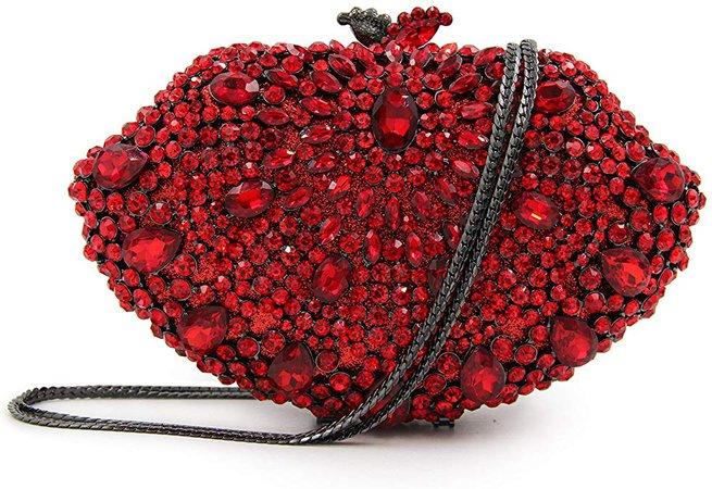 Women Clutch Bags Luxury Crystal Rhinestone Bridal Wedding Clutch Purse Red: Handbags: Amazon.com