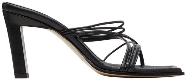 Black Joanna Heeled Sandals