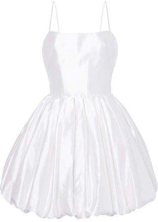 Silk-satin Mini Dress - White