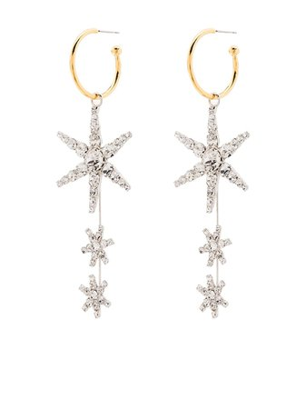 Jennifer Behr Alax star hoop earrings