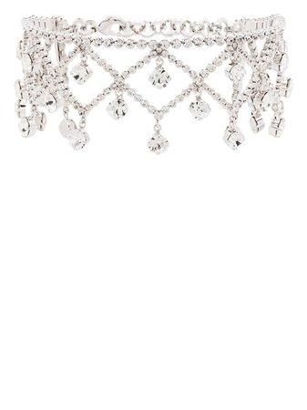 Alessandra Rich Crystal Choker Necklace - Farfetch