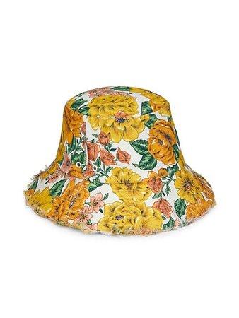 Zimmermann Sunshine Frayed Bucket Hat | SaksFifthAvenue