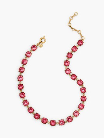 Crystal Necklace in Cerise Pink | Talbots