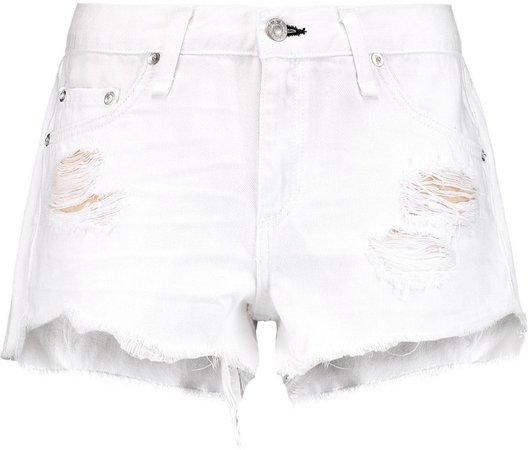 Cut Off Distressed Denim Shorts